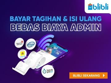 Bayar tagihan dan isi ulang bebas biaya admin hanya di promo Blibli