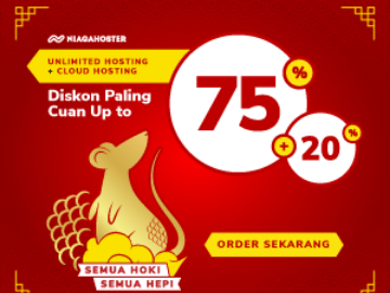 Kode promo Niagahoster diskon 75% + 20% unlimited hosting & cloud hosting