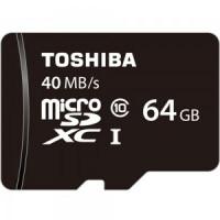 TOSHIBA Micro SD Card Class 10 40Mbps - 64GB [R40]